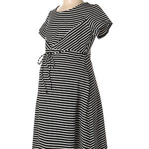 NWOT Jessica Simpson Striped Maternity Dress